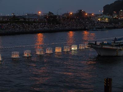 2008年7月21日湘南龍の口灯籠流し