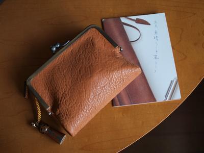 土屋鞄製造所のオイルヌメ がま口ポケット財布